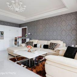四房中式家装客厅背景墙装修图片
