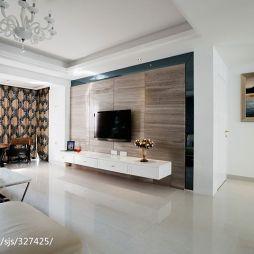 四房中式家装客厅背景墙设计