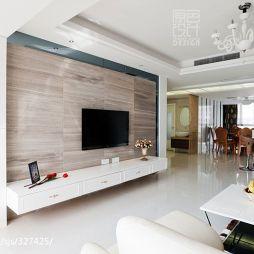 四房中式家装客厅背景墙装修效果图大全