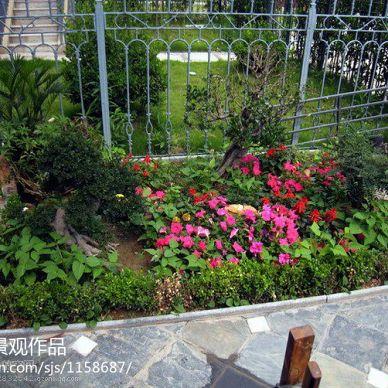 田园风庭院花园效果图