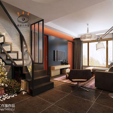 82㎡现代风格钢木楼梯