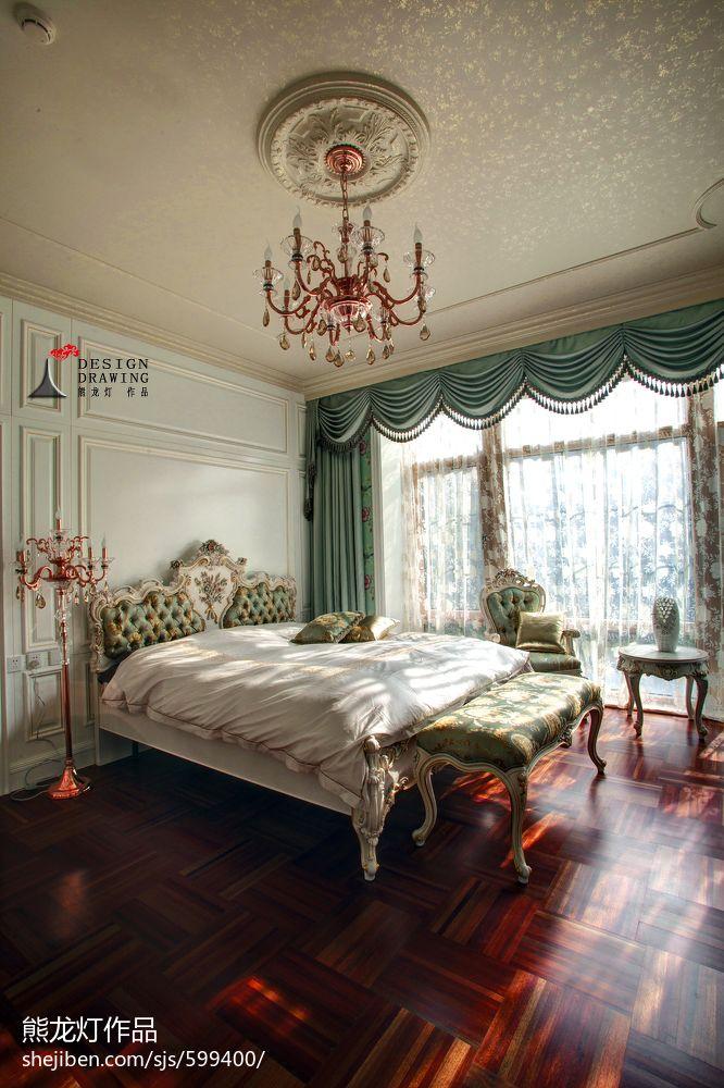 卧室飘窗设计_欧式别墅卧室窗户装修效果图 – 设计本装修效果图