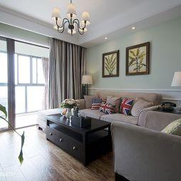 美式最新客厅装修效果图片
