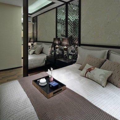 后现代_客厅和卧室隔断装修设计效果图