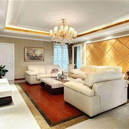 欧式客厅沙发背景装修效果图
