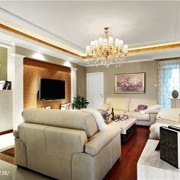 欧式客厅沙发装修效果图片
