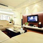 现代简约风客厅电视背景墙效果图片