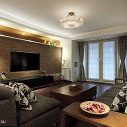 美式客厅整体空间效果图