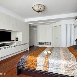 现代美式主卧室装修效果图片