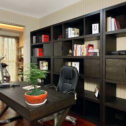 昶卓设计现代书房家具装修效果图