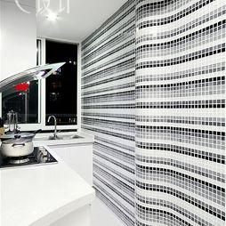 现代风格厨房马赛克瓷砖墙装修效果图欣赏