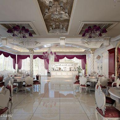 欧式风格宴会厅设计效果图