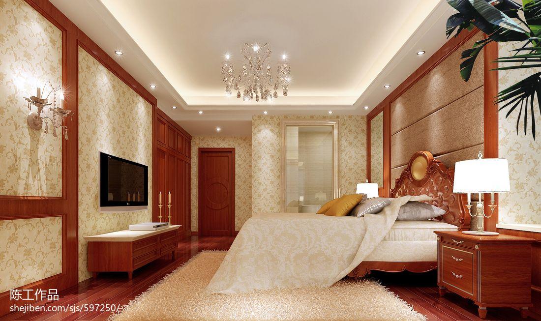 欧式卧室电视背景墙_欧式卧室_电视背景墙装修设计效果图 – 设计本装修效果图