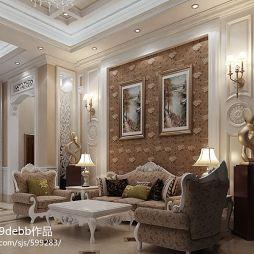 客厅装修壁纸效果图图片