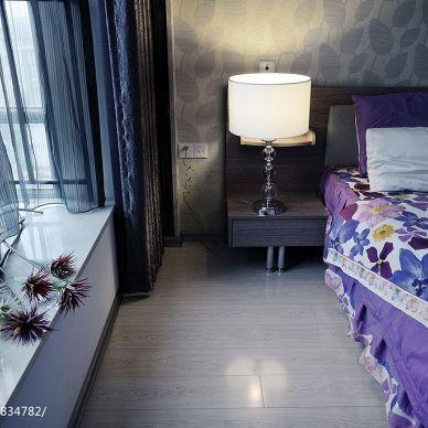丽岛_现代卧室时尚窗帘装修设计效果图