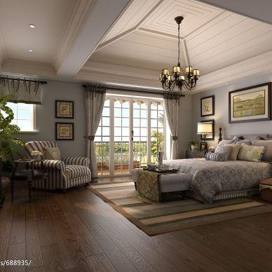 其他_欧式卧室时尚灯具装修设计效果图