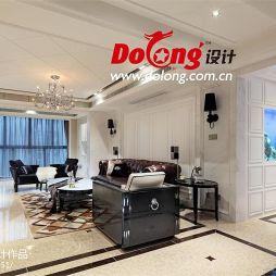 现代风格客厅整体空间效果图