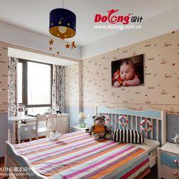 现代风格儿童卧室效果图