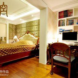 杭州一空设计卧室带书房装修效果图