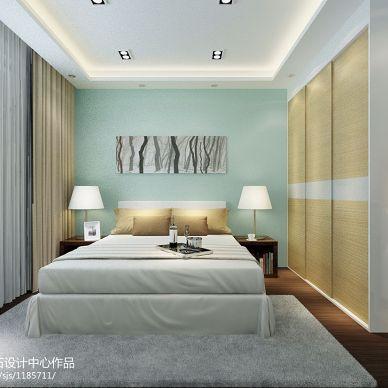大庆联想科技城温暖之夏现代卧室背景墙装修效果图