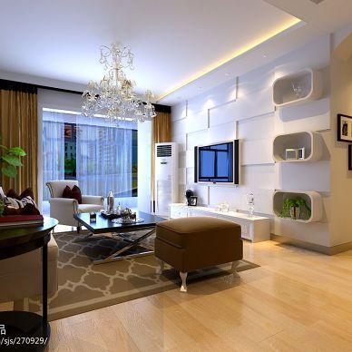 三居室现代风格客厅电视背景墙装修