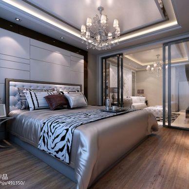 威尼斯水城62平米精装房欧式卧室背景墙装修效果图
