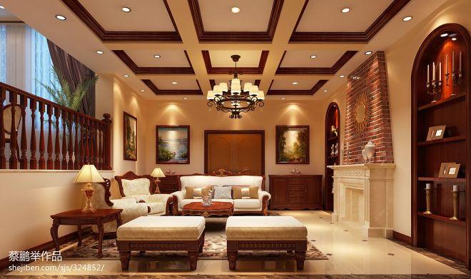经典美式客厅效果图