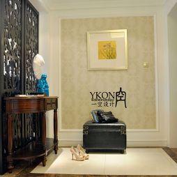 欧式风格家装玄关镂空雕花隔断装修效果图