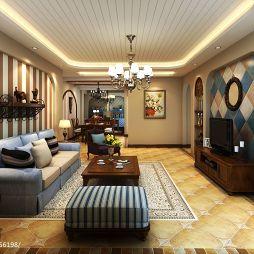 地中海风格客厅装修效果图片欣赏