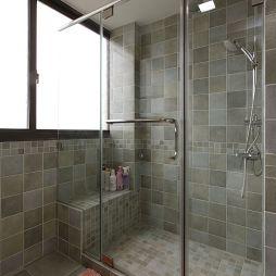 美式小清新卫生间玻璃淋浴房效果图