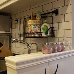美式小清新厨房瓷砖装修设计效果图