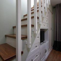 创意楼梯收纳电视柜装修效果图