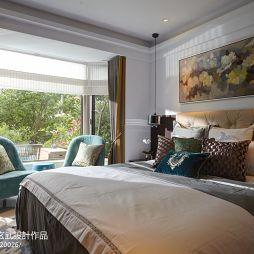 卧室床头挂画背景墙装修图片