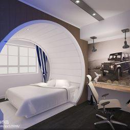 创意_混搭卧室创意背景墙装修设计效果图