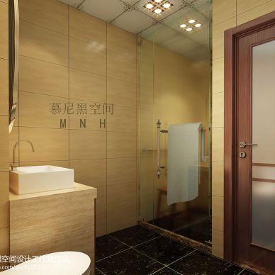现代卫浴瓷砖隔断门装修设计效果图