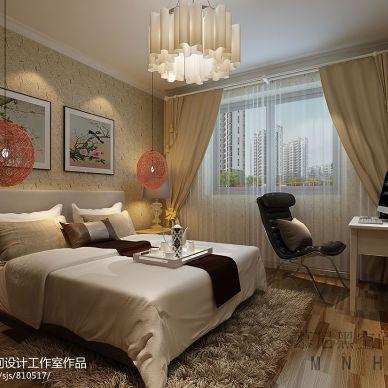 有限的时间_现代卧室背景墙壁画装修设计效果图