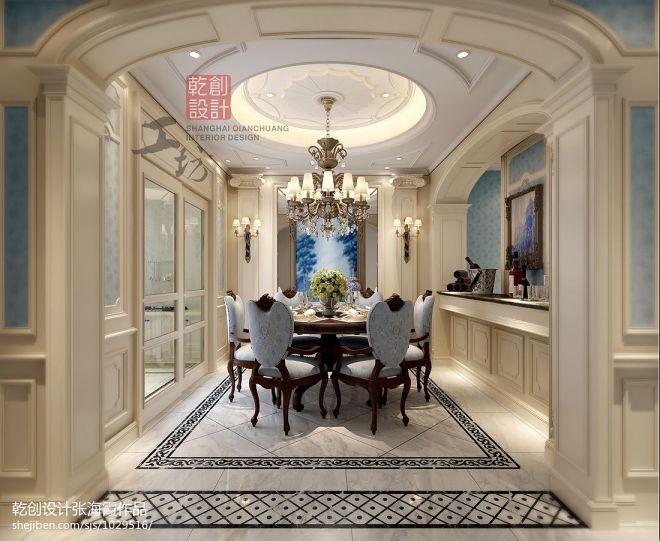 台州别墅设计_欧式餐厅时尚地面拼花装
