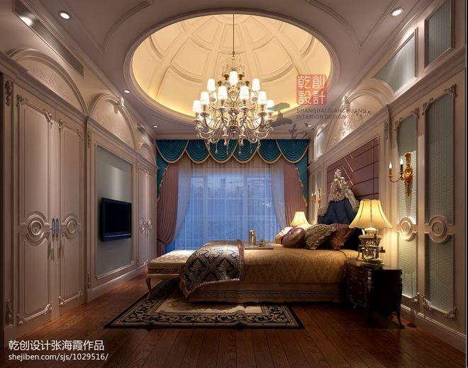 台州别墅欧式卧室灯具装修设计效果图