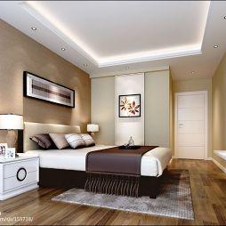 现代白色时尚卧室门装修效果图