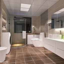现代风格三居室卫浴整体装修设计效果图
