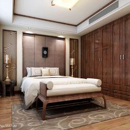 中式臥室組合衣柜效果圖