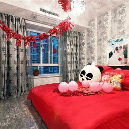 现代风格婚房卧室效果图