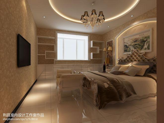 群星国际新城欧式卧室壁纸装修设计效果
