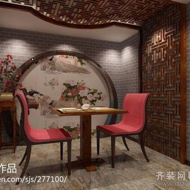 中式风格情侣餐馆装修效果图