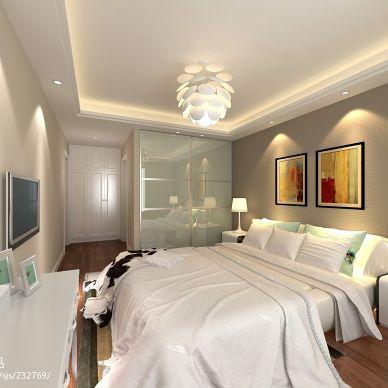 梦起航的地方现代卧室床头背景墙装修设计效果图