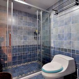 一空设计家装美式风格卫浴隔断淋浴房装修设计效果图