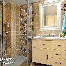 一空设计美式卫浴隔断淋浴房装修设计效果图