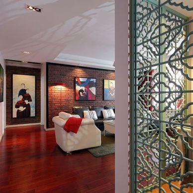 新古典家装地板装修设计效果图