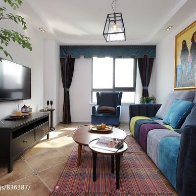 时尚阿拉伯新古典客厅吊灯装修效果图