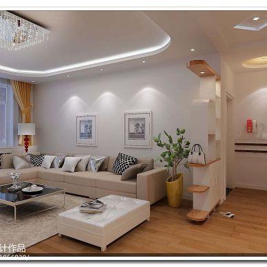 桂园新村 现代客厅装修效果图